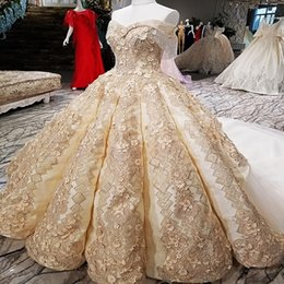 $enCountryForm.capitalKeyWord Australia - 2019 Big Skirt Quinceanera Dresses Off Shoulder Golden Champagne Color Evening Dresses With Lace Train Buy Direct From China Online Shop