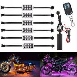 $enCountryForm.capitalKeyWord NZ - 36 RGB LED Wireless Remote Control Motorcycle Neon Style Light Kit Flexible Strip Lights Decorative Atmosphere Lamp