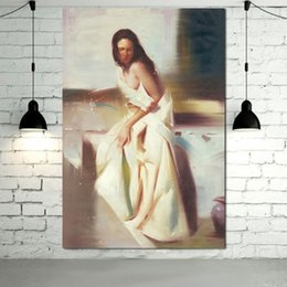 Painting Can Australia - Framed Pure HandPainted Classical Sexy Woman Art oil painting for Home Wall Decor High Quality Canvas size can be customized p08
