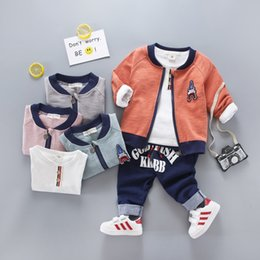 $enCountryForm.capitalKeyWord NZ - Baby Boys Spring Autumn Sports suit 3 pieces set Tracksuits Kids Clothing sets Casual clothes Coat Pant t shirt