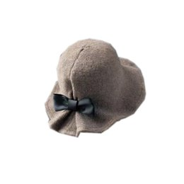Party Bowler Hats Australia - New Fashion Women s Wool Felt Flowers Knit Bowler  Hats Solid Color 6152a19b0095