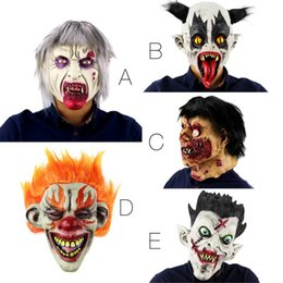 zombie masks 2019 - Funny Halloween Party Terror Devil Realistic Silicone Masks Carnaval Easter Scary Zombie Latex Mask discount zombie mask