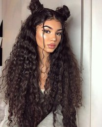 Kinky Curly Human Hair Afro Wigs Australia - Virgin Brazilian Human Hair Afro Kinky Curly Full Lace Wigs Lace Front Human Hair Wigs for Black Women