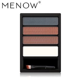 powder natural Canada - Menow Brand Natural Eyebrow Three-dimensional High-light Powder Waterproof Easy To Color Is Not Blooming Cosmetic E16001