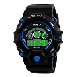 Men Digital Wrist Watches NZ - Luxury Men Analog Digital Army Sport LED Waterproof Wrist Watch Reloj Hombre Deportivos Erkek Kol Saati Markalar Spor