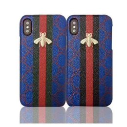 $enCountryForm.capitalKeyWord UK - NEW brand printing Bee pattern phone case for iphone X 7 6 6S 7plus hard back cover for iPhone8 8plus hight quality