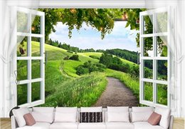 $enCountryForm.capitalKeyWord UK - 3d wallpaper High-end custom mural non-woven wall sticker 3 d window grape rural painting photo 3d wall room murals wallpaper