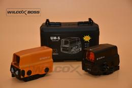 Großhandel Razor UH-1 Optischer holographischer Anblick Red Dot-Anblick Reflexvisier mit USB-Aufladung für 20mm Mount-Airsoft-Jagdgewehr
