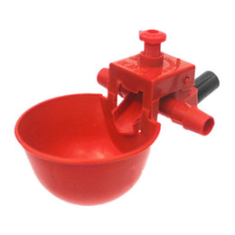 Feeders water bottles online shopping - Automatic Bird Coop Feed Drinking Cups Poultry Chicken Fowl Drinker Red Quail Waterer Animal Feeders Pet Supplies za jj