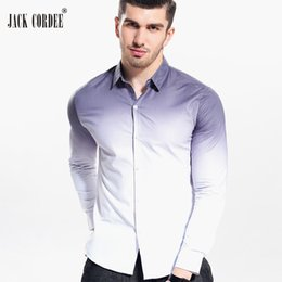 Jack Shirts NZ - JACK CORDEE 2017 Fashion Men Shirt White Gradient Slim Fit Male Social Shirt Tuxedo Autumn Mens Long Sleeve Dress Shirts
