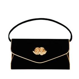 $enCountryForm.capitalKeyWord Canada - Baroque-style black PU leather women handbag luxurious Gold Angel design chain women Shoulder Bag Elegant Female Dinner Handbag