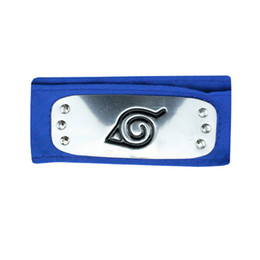 $enCountryForm.capitalKeyWord NZ - ANIME Naruto Headband 95cm Leaf Village Logo Konoha Kakashi Akatsuki Members Cosplay Costume Accessories blue red black
