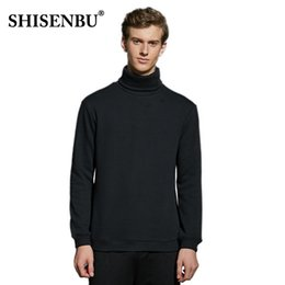 high collar shirts for men UK - 2018 men's winter bottoming shirt plus velvet cotton to keep warm for everyday casual high collar windproof Christmas gift to se