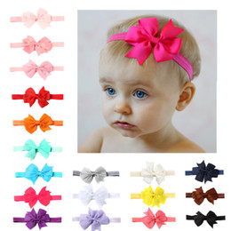 2018 Newborn Baby Hairbands Bows Princess Headbands Hair Accessories Girls  boys Cute Elasticity Flower Hair bands Kids Bandanas 14 colour 9g 014eddf5a749