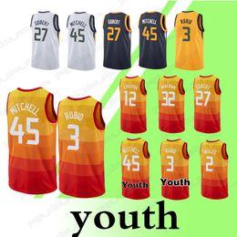 45 Donovan Mitchell jerseys 3 Ricky Rubio 24 Grayson Allen 27 Rudy Gobert 2  Joe Ingles Top quality jersey 8b2663238