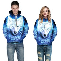 3D Hoodies Blau Rose Cat Digital Prints Kapuzenpullis Neue Design Mode High Streetwear Pullover Tops Plus Größe 3XL