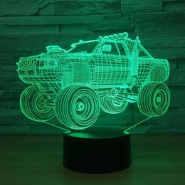 $enCountryForm.capitalKeyWord Australia - Off-road Vehicle 3D Optical Illusion Lamp Night Light DC 5V USB Powered 5th Battery Wholesale Dropshipping Free Shipping