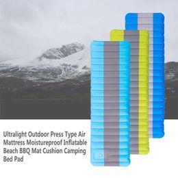 $enCountryForm.capitalKeyWord NZ - Ultralight Outdoor Press Type Air Mattress Moistureproof Inflatable Mattress Travel CyclingBeach BBQ Mat Cushion Camping Bed Pad