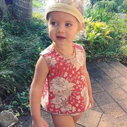 $enCountryForm.capitalKeyWord Australia - 2PCS Fashion Toddler Cute Baby Girls Outfit Clothes Set Floral Printed Sleeveless Tops Vest T-shirt Tutu Shorts Pants