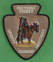 $enCountryForm.capitalKeyWord Australia - CHEYENNE COUNTY SHERIFF Colorado Police Embroidered Iron On Patch Motorcycle Biker Club Front Jacket Vest Patches for Clothing Free Shipping