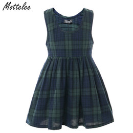 $enCountryForm.capitalKeyWord UK - Mottelee Girl Dress Summer Fashion Plaid Daily Dresses Clothing Cotton Beach Party Dress Family Matching Outfits for Girl