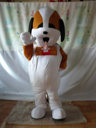 cartoon dog mascot NZ - Brown Dog Mascot Costumes Animated theme Dog doctor Cospaly Cartoon mascot Character Halloween Carnival party Costume