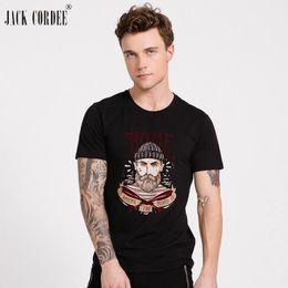 Jack Shirts NZ - JACK CORDEE 2018 Streewear Cotton Tshirt Short Sleeve T shirt Men Funny T shirts Print Shirts Tee Shirt Mens T-shirt Plus Size