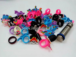 new vape band 2019 - 2018 New Styles Silicone Vape Band Beauty Cartoon Decorative Ring Colorful Silicon Rings Fit All above 18mm Mods RDA RTA