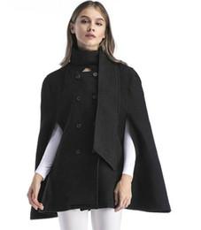 $enCountryForm.capitalKeyWord UK - New Autumn Winter Women's Wool Blends Overcoat Plus Size Cloak Poncho Coat Loose Tops Outwear Cape Coats Khaki Black C3717