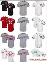 0b00d58b866 2019 custom Men s women youth Majestic WA Nationals Jersey Personalized Name  and Number Home Red Nary Blue White Kids Girls Baseball Je
