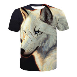 Plus Size Tee Australia - Scar Wolf 3D T Shirt Men Hip Hop Gothic Fighting Animal Printed t-shirts Mens 6XL Novelty Plus Size T shirts Casual Tee Tops