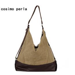 6a9dadb757 Fashion Vintage Half Moon Hobo Handbags Causal Shoulder Purses Women Tote Canvas  Bags Postman Big Patchwork Travel Crossbody Bag