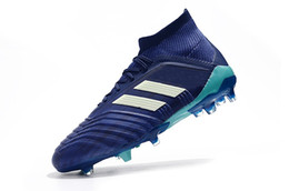 2018 top quality mens soccer cleats Predator 18.1 FG soccer shoes Predator  18 high ankle football boots outdoor scarpe da calcio Blackout eef3611e5