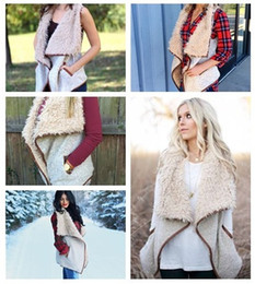 womens vests NZ - Sherpa Women Vest Winter Warm Outwear Tank Irregular Faux Fur Shearling Wastcoat Fashion Sleeveless Jacket Womens Vests Top Clothing Hot New