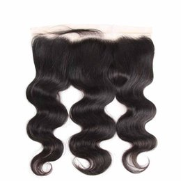 brazilian virgin hair texture UK - Brazilian Lace Frontal Closures Body wave 13x4 Full Lace Frontal 100% Unprocessed Peruvian Deep Water Loose Wave Virgin Human Hair Closure