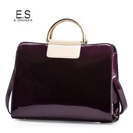 Patent Black Bags Canada - Patent Leather Shoulder Bags For Women 2018 Elegant Fashion Handbag Tote Bag Womens High Quality Saffiano Shoulder Bag Black