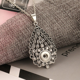 $enCountryForm.capitalKeyWord NZ - Noosa Chunks Jewelry Vintage Flowers Snap Button Necklace Fit 18mm Snap Buttons Jewelry Interchangeable Pendant Necklaces