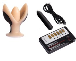 $enCountryForm.capitalKeyWord UK - Electric Shock Anal Plug Butt Plugs Vibrator Stretcher BDSM Bondage Gear Kit Sex Games Toys for Women