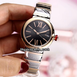 $enCountryForm.capitalKeyWord Canada - Girlfriend Gift LVCEA Date 102192 Black Dial Japan Miyota 8215 Automatic Womens Watch Two Tone Rose Gold Steel Band Fashion Lady Watches