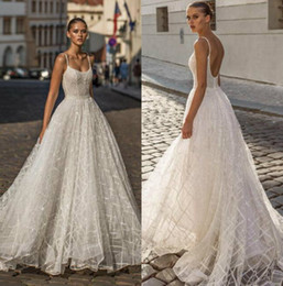 $enCountryForm.capitalKeyWord UK - Helena Kolan 2019 Wedding Dresses Spaghetti Bling Lace Bridal Gowns Saudi Arabic Sweep Train Plus Size Backless Wedding Dress Custom