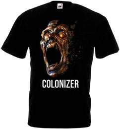 $enCountryForm.capitalKeyWord Australia - Shirts Homme Novelty T Shirt Printing Machine Men Colonizer T-Shirt Black All Sizes S To 3XL O-Neck Short-Sleeve T Shirts
