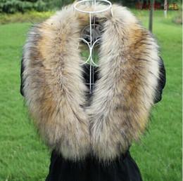 Discount fox fur raccoon scarf - Female Imitation Fox Fur Collar Winter Warmer Leather Grass Imitation Raccoon Fur Collar False Scarf Womens Scarves
