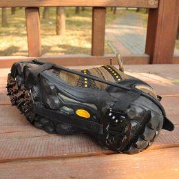 Toptan satış 18 Diş Dağcılık Krampon Manganez Çelik Kaymaz Ayakkabı Kapak Açık Yürüyüş Kayak Ayakkabı Zinciri Için Yüksek Kalite 5 5yx B