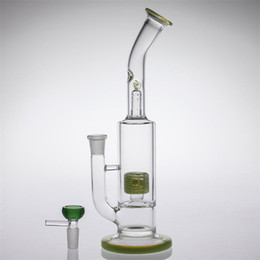 $enCountryForm.capitalKeyWord Australia - Cheal Glass Bongs With Yellow Tire Perc Glass Bowl Random color bowl Two Fuction Bongs Water Pipes in stock Cheap Smoking Hookahs