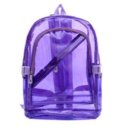 Chinese  HEBA Chic Transparent Clear PVC Backpack Exquisite Women Jelly Bag Transparent Bookbag Crystal Beach Bag Portable manufacturers