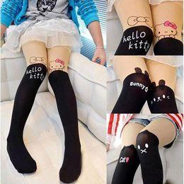 $enCountryForm.capitalKeyWord Canada - Hot Sale!Cute Children Baby Kids Girls Tights Pantyhose Knee Lovely Tattoo Tights Pantyhose Girls Velvet Stocking Baby Tights