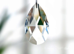 China Ball Lighting Australia - New Clear Waterdrop Crystal Ball Sphere Prism Pendant Spacer Beads Light Lamp Chandelier Hanging Decoration for Home Wedding Party