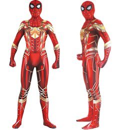 Spiderman Cosplay Costume Costume Zentai Glod Fer Rouge Spider Man Combinaison Combinaison