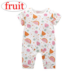 42a9a6c7138 ins summer Fruit full print infant baby rompers green kids watermelons print  Jumpsuits 0-3years free ship