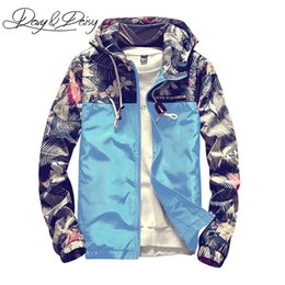 $enCountryForm.capitalKeyWord UK - DAVYDAISY Mens Bomber Jacket Korean Style Slim Fit Floral Print Patchwork Hooded Casual Hip Hop Coat Men Brand Clothing DCT-196